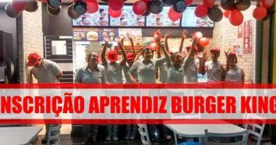 Vaga de Jovem Aprendiz - Burger King