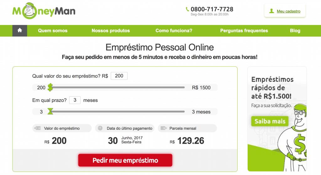 Empréstimo Online na MoneyMan