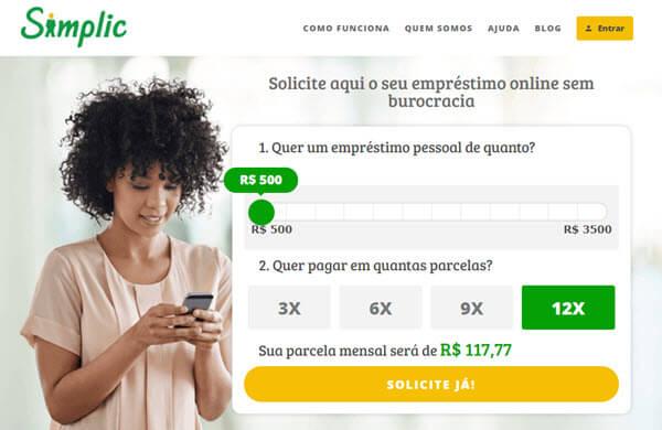 Empréstimo Online na Simplic