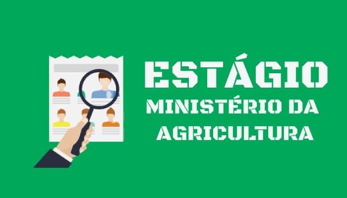Vagas de estágio no Ministério da Agricultura, Pecuária e Abastecimento